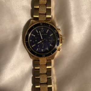 Men's Michael Kors Gold and Diamond Watch